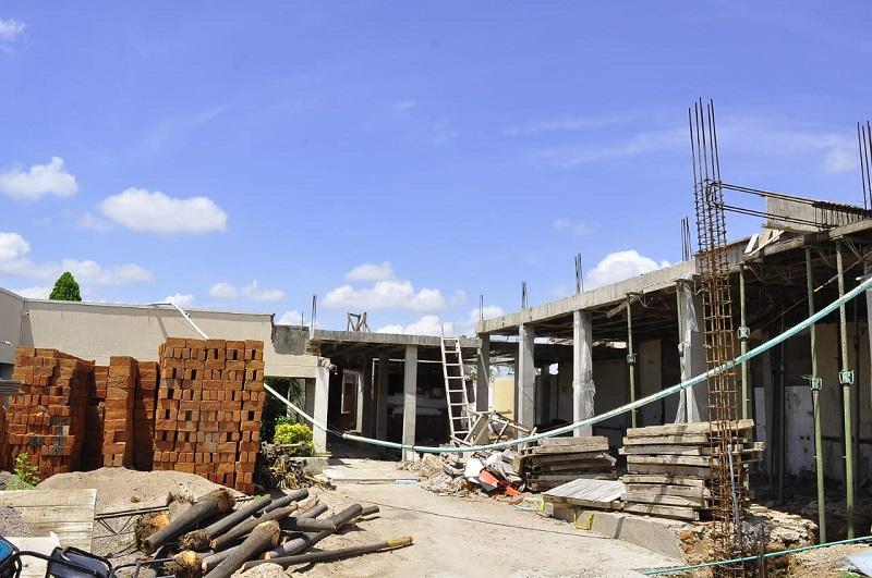 Las obras de remodelación y ampliación de urgencia del HEAD, sede San Martín, solo lleva un 25 % de ejecución física. Archivo/EL PILÓN