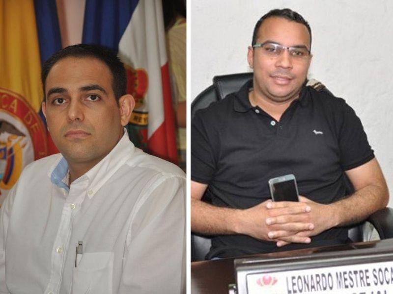 El exsecretario Oscar Tom Socarrás y el exconcejal Leonardo Mestre enfrentan el proceso estando en libertad.  FOTO/CORTESÍA.