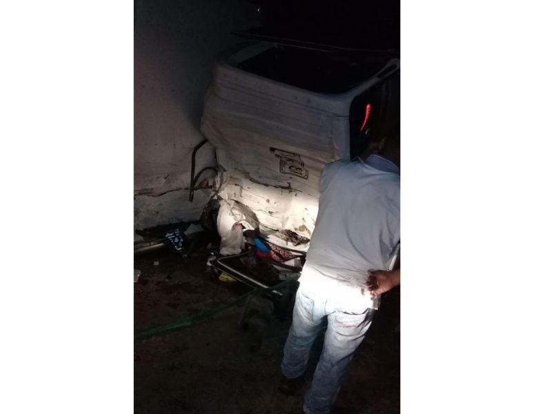 El accidente sucedió en la vía Valledupar-Bosconia.  FOTO/CORTESÍA.