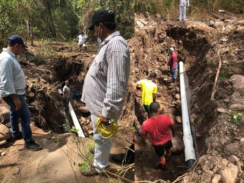 Se presentaron dos daños, los cuales afectaron el servicio de agua potable.  FOTO/CORTESÍA.
