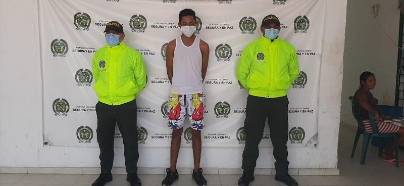 El joven fue capturado en La Jagua de Ibirico.  FOTO/CORTESÍA.