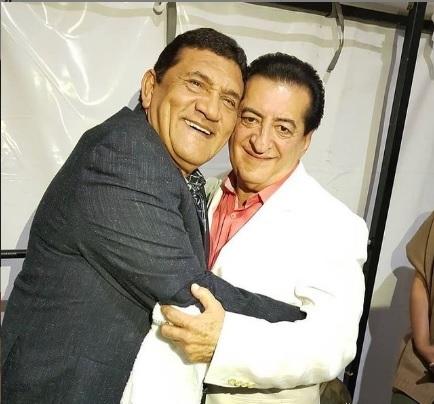 Jorge Oñate al lado de su gran amigo, Poncho Zuleta.   FOTO/INSTAGRAM.