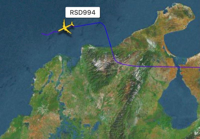Fuerza Aérea Colombiana intercepta aeronave rusa por violar espacio aéreo colombiano