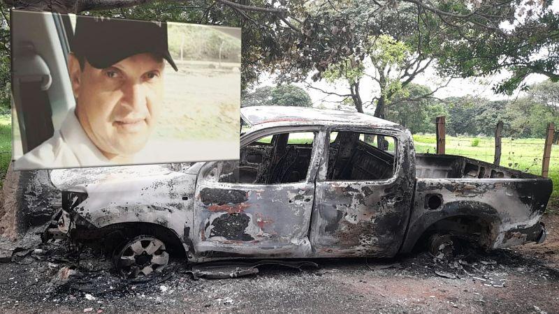 Así encontraron el carro de la víctima.