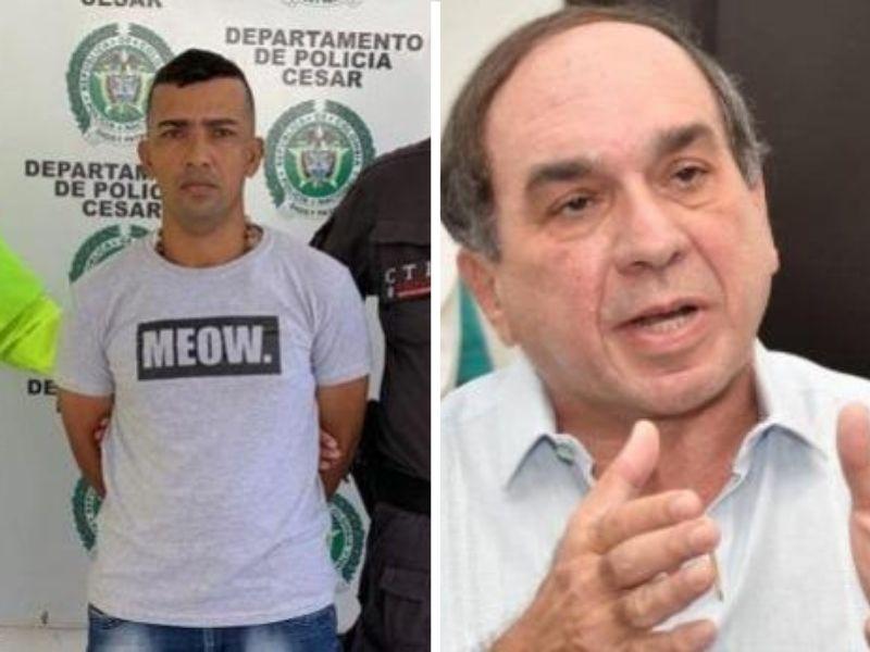 Jaider Acuña, condenado y el médico Alberto Aroca.