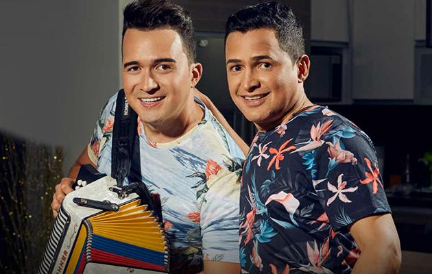 Jorge Celedón y Sergio Luis Rodríguez.    FOTO: CORTESÍA.
