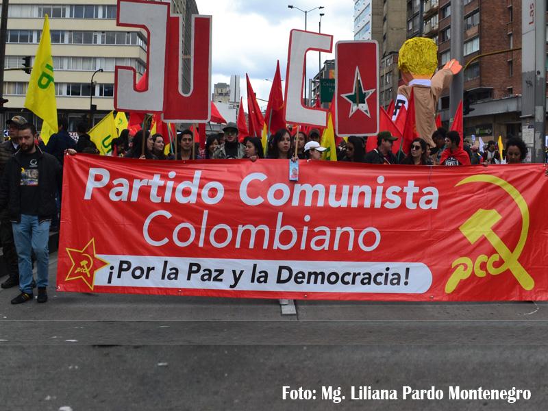 Partido Comunista Colombiano en marchas.
