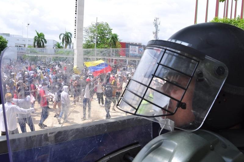 Fue reforzada la seguridad en el centro y sur del departamento del Cesar antes las marchas prevista en el día de hoy.   FOTO: REFERENCIA.