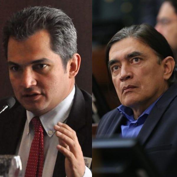 Gustavo Bolívar y Alfonso Campo Martínez.  FOTO: EL PILÓN.