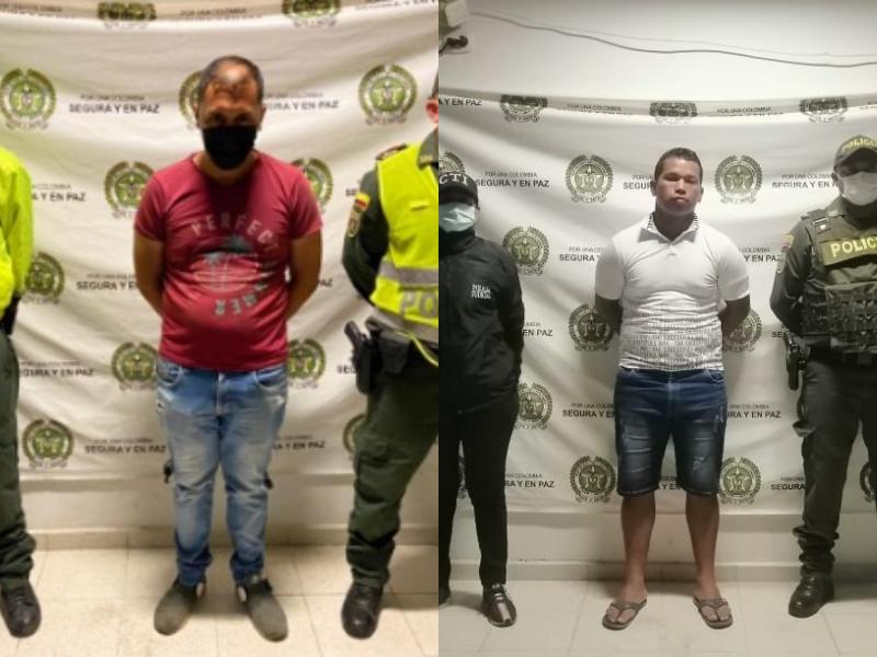 Jhonatan Gustavo Jaimes y Joaquín Enrique Caballero, detenidos.
