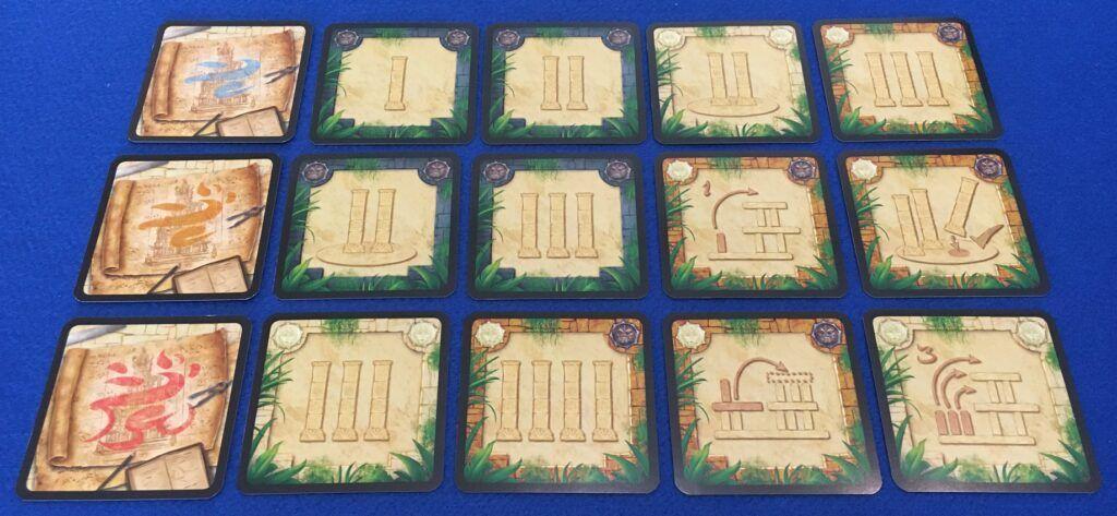 Cartas de glifos del juego de mesa de Menara