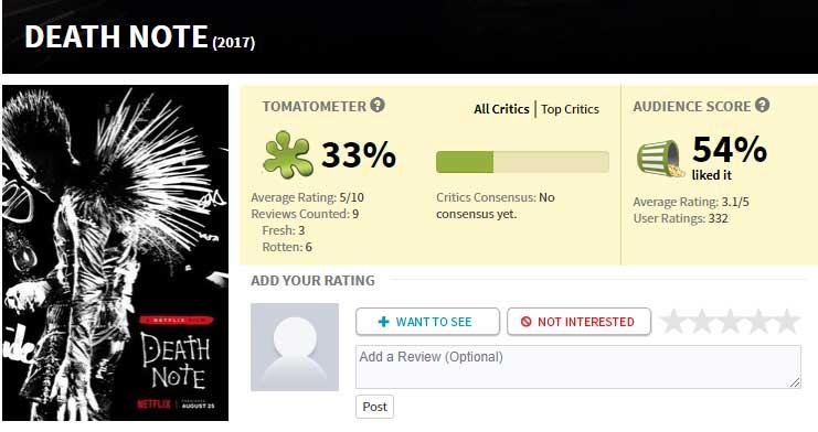 Netflix lanza su nueva película Death Note