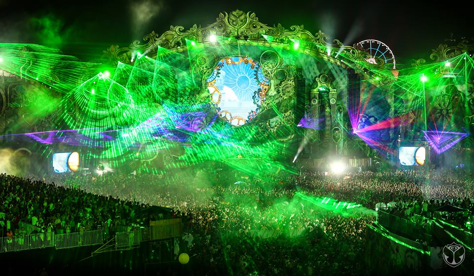 show laser tomorrowland