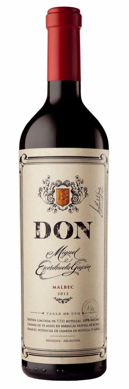 Malbec Don Miguel Escorihuela Gascón, $1.250 (sugerido vinoteca)