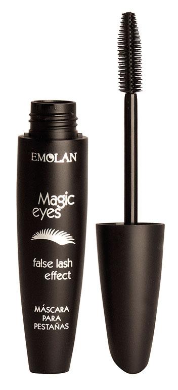 Magic Eyes de Emolan es una máscara de pestañas que resalta la mirada con una terminación delicada y prolija con mayor volumen. $120