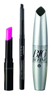 El increíble paquete Avon Set Color incluye el lápiz labial FPS 15 Mega Luminous, un delineador retráctil para ojos y la máscara de pestañas Big & Define. Precio: $649,99.
