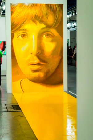 Florida Miami Art Basel international fair exhibition modern contemporary pictures yellow young Paul McCartney jigsaw portrait
