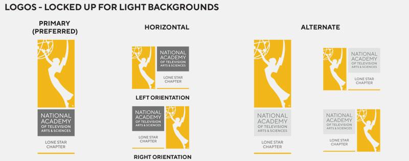 La academia nacional de artes y ciencias de la televisión simplifica logo