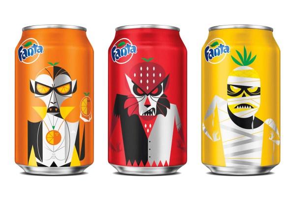 Fanta Halloween, latas de monstruos.
