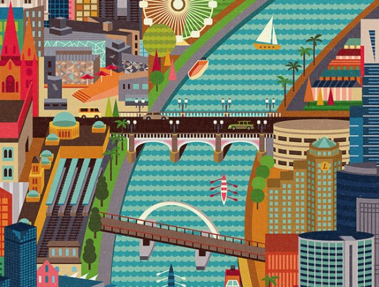 We Love Melbourne detalle poster