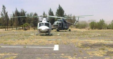 Se suma helicóptero de la SEDENA a labores de combate a incendio