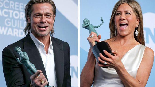 La noche de Brad Pitt y Jennifer Aniston; los Premios SAG