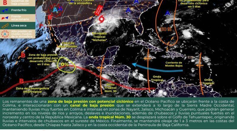 mapa clima 14 sep