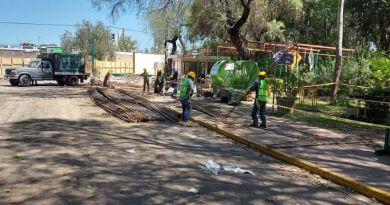 Avanzan obras de rehabilitación de Parque Tangamanga y Periférico Oriente