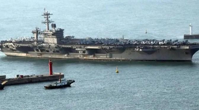 Portaaviones estadounidense desplegado en amenaza directa a Corea del Norte