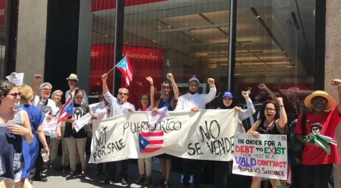 Cómo el banco Santander se lucra con la quiebra de Puerto Rico
