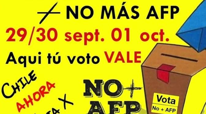Coordinadora Nacional de Trabajadores NO + AFP: Carta Abierta