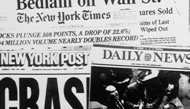 """Treinta años desde el """"Lunes Negro"""" de Wall Street"""