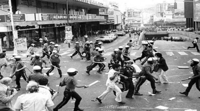 La situación en Venezuela: desde el ¨caracazo» a hoy