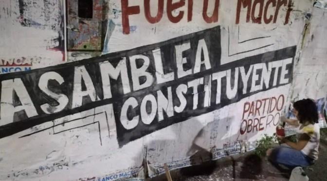La izquierda argentina y la crisis: ¿Es útil la consigna de Asamblea Consituyente?