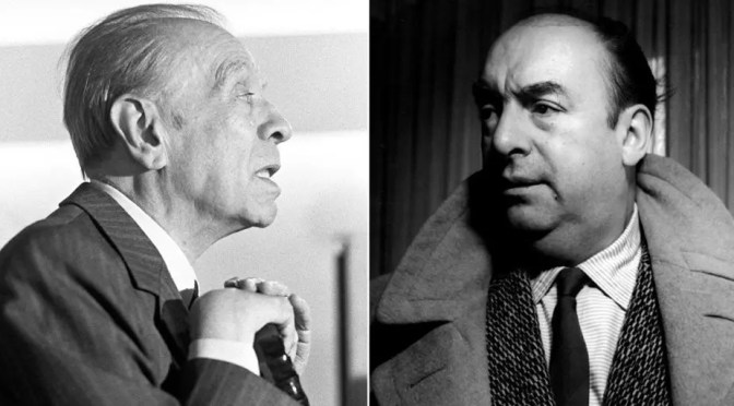 Borges contra Neruda: el enfrentamiento que contó Harold Bloom