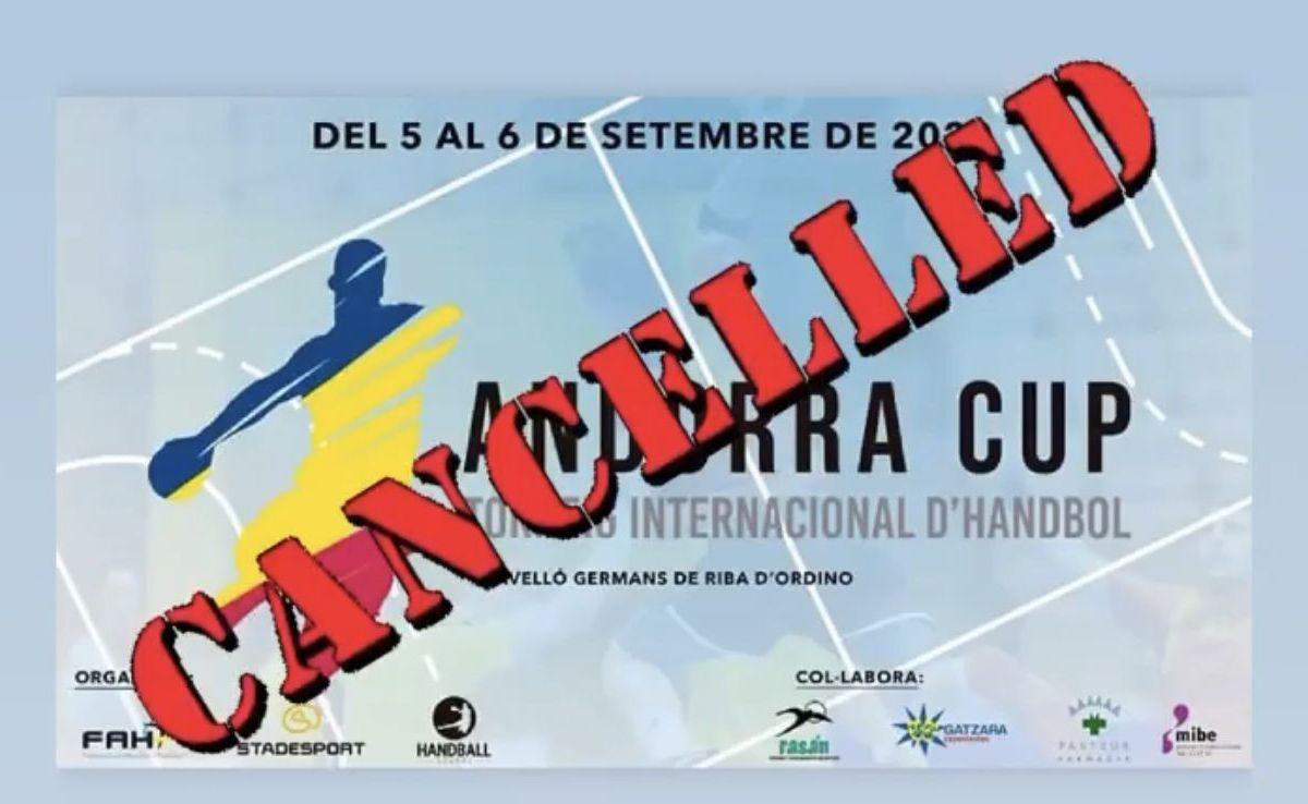 La Federació d'handbol suspèn l'Andorra Cup
