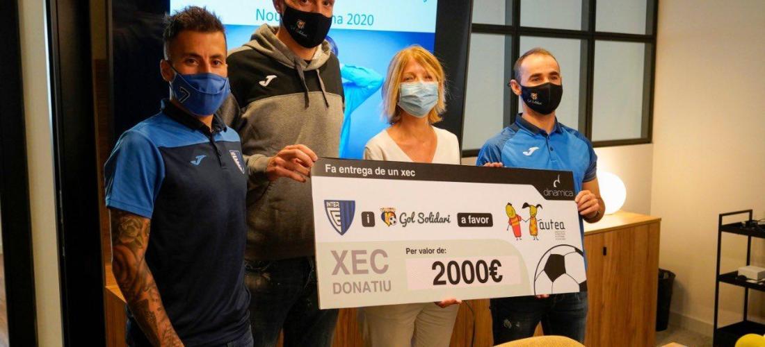 Gol Solidari i l'InterEscaldes lliuren 2.000 euros a Autea