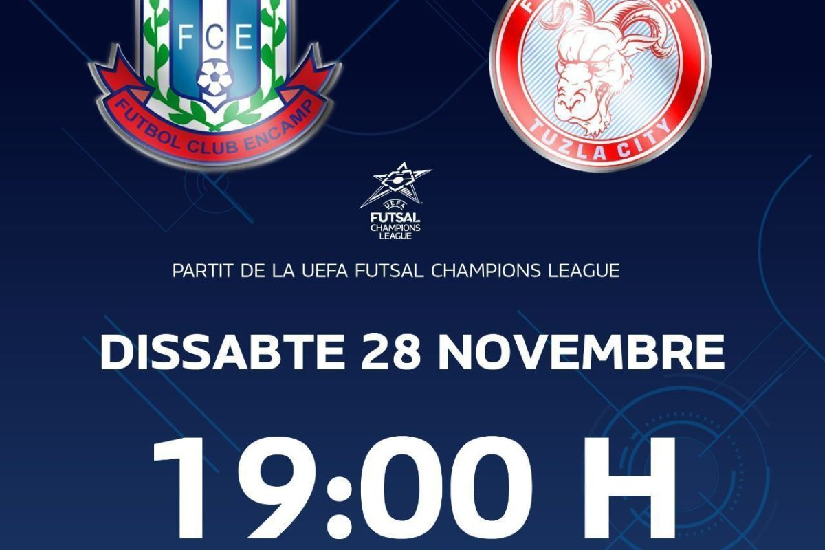 El partit de Champions del Sideco FC Encamp es farà per streaming