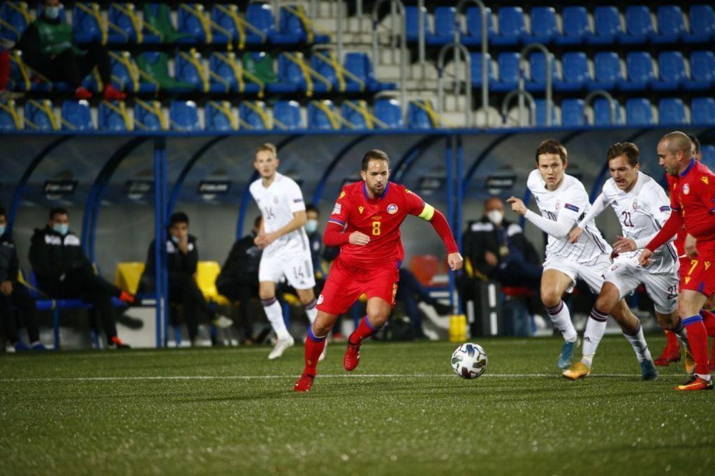 Marcio Vieira ha sumat el seu partit número 100 amb la selecció nacional d'Andorra. Foto: FAF.