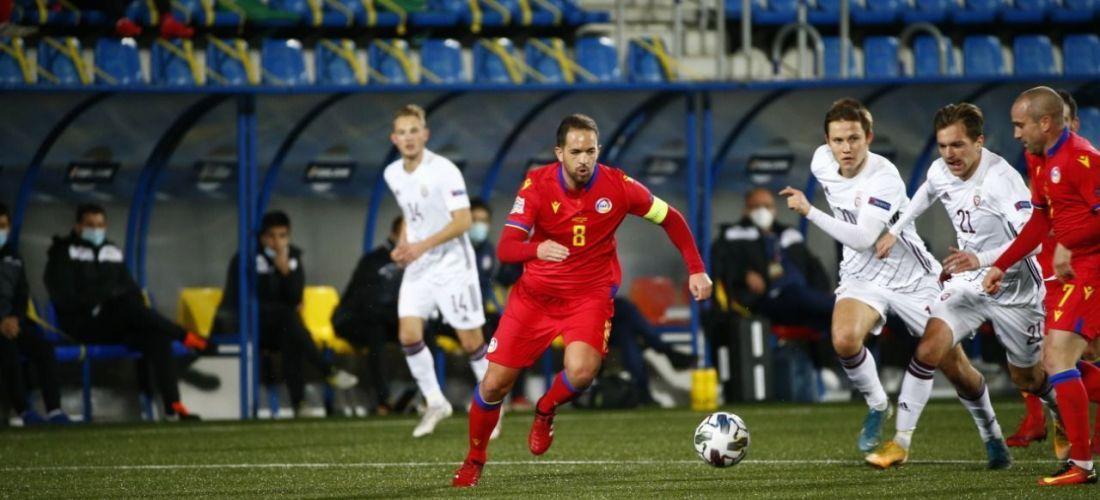 A Andorra li surt tot malament i acaba golejada 0-5 per Letònia