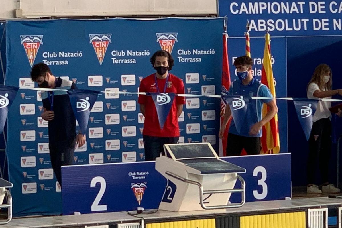 Aleix Férriz, doble campió de Catalunya júnior en els 100 esquena i els 50 lliures