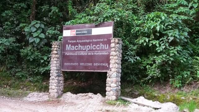 Entrada a Machu Pichu