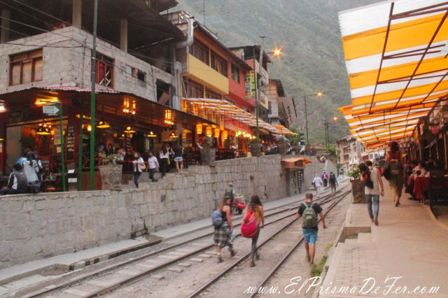 Entrando en Aguas Calientes