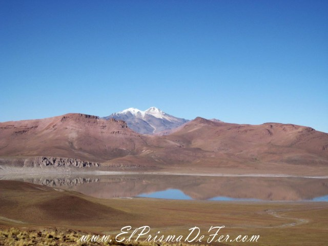Laguna Colorada en el Salar de Uyuni - Bolivia