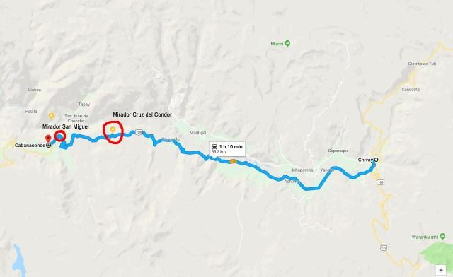 Ruta que une Chivay con Cabanaconde