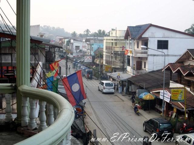 Fachada del Hotel en Huay Xai