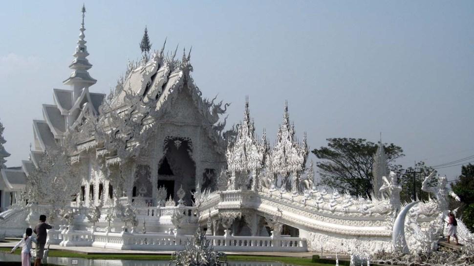 Templo Blanco Wat Rong khun en Tailandia