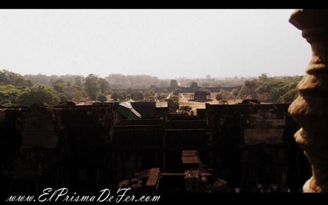 Vista desde el interior de Angkor Wat