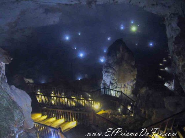 Cavidad central que vemos al entrar a Paradise Cave