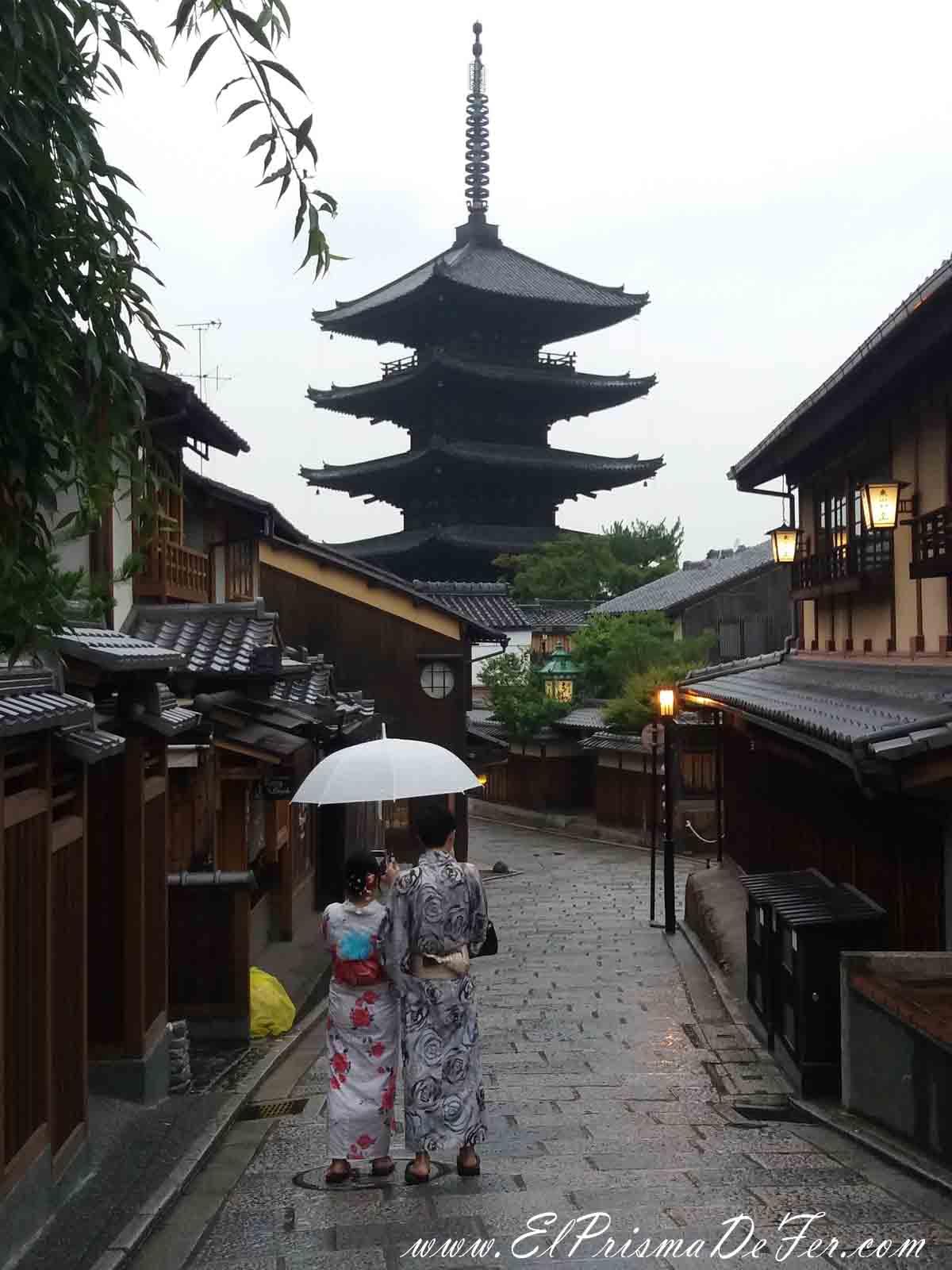 Pagoda en el barrio de Gion, Kyoto
